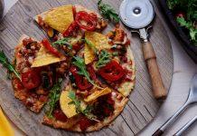 Crispy taco pizza.