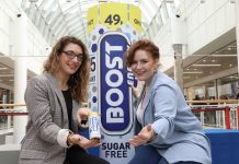 Heather Peddle, a 28-year-old HND Graphic Design student from Belfast Metropolitan College, is pictured with Boost Energy Consumer Marketing Manager Francine Matthews