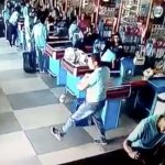 Drop kick dude in a Brazilian supermarket.