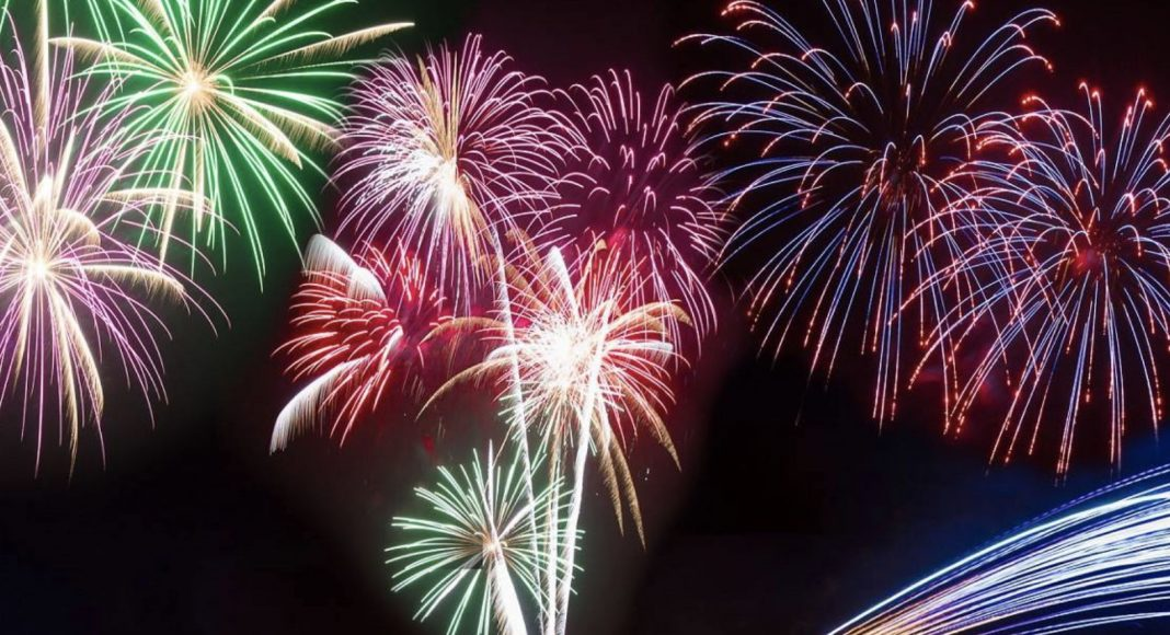 The Holywood fireworks display was cancelled.
