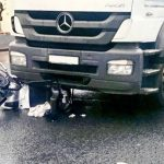 Mobility scooter crushed in Magherafelt.