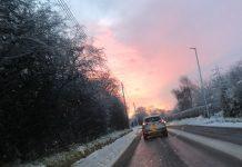 Snowy roads.